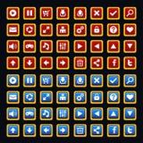 Paquete medieval de los botones del juego Imagen de archivo libre de regalías