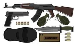 Paquete militar del arma Imágenes de archivo libres de regalías