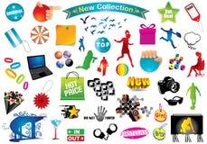 Paquete multi: Elementos del diseño Imágenes de archivo libres de regalías
