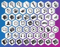 Paquete púrpura del icono Imágenes de archivo libres de regalías