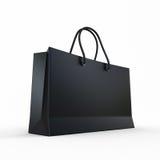 Paquete para las compras el negro Imagen de archivo