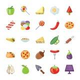 Paquete plano de los iconos de la acción de gracias Imagen de archivo