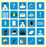 Paquete plano del icono Fotografía de archivo libre de regalías