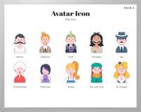 Paquete plano del icono de Avatar ilustración del vector
