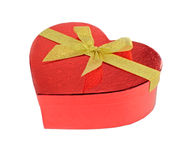 Paquete rojo del regalo del corazón Imagen de archivo