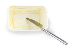 Paquete vacío de la mantequilla Fotos de archivo libres de regalías