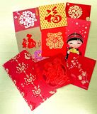 Paquetes chinos del rojo del Año Nuevo Imagenes de archivo