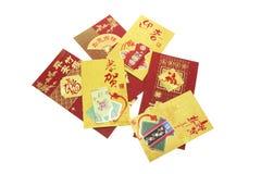 Paquetes chinos del rojo del Año Nuevo Fotos de archivo