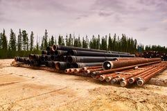 Paquetes de cubierta del pozo de petróleo Imagen de archivo libre de regalías