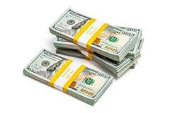 Paquetes de 100 dólares de EE. UU. de billetes de banco 2013 de la edición Imagen de archivo