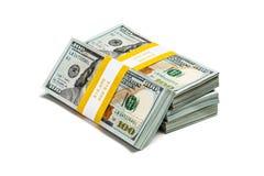 Paquetes de 100 dólares de EE. UU. de billetes de banco 2013 de la edición Imagen de archivo libre de regalías