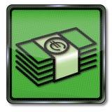 Paquetes de dinero en euros Imágenes de archivo libres de regalías