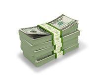 Paquetes de dinero en un fondo blanco, libre illustration