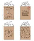 Paquetes de la panadería fijados Fotografía de archivo libre de regalías