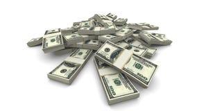 Paquetes de los dólares que caen (USD) - realistas stock de ilustración