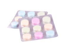 Paquetes de píldoras Imagenes de archivo