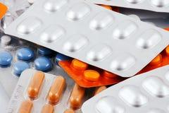 Paquetes de píldoras Fotografía de archivo libre de regalías