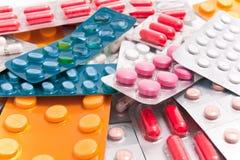 Paquetes de píldoras foto de archivo