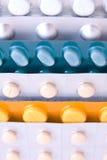 Paquetes de píldoras Foto de archivo libre de regalías