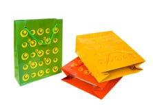 Paquetes de papel multicolores. Imagen de archivo libre de regalías