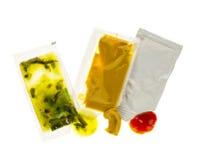 Paquetes del condimento Imagen de archivo libre de regalías