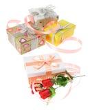 Paquetes del regalo Imágenes de archivo libres de regalías