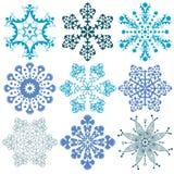 Paquetes del vector de los copos de nieve Fotos de archivo libres de regalías