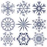 Paquetes del vector de los copos de nieve Imagenes de archivo
