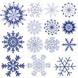 Paquetes del vector de los copos de nieve Fotografía de archivo