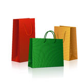 Paquets colorés pour des cadeaux Images stock