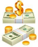 Paquets d'argent. Photo stock