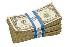 Paquets de billets d'un dollar Photos libres de droits