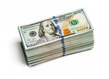 Paquets de 100 billets de banque 2013 d'édition de dollars US Images libres de droits