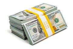Paquets de 100 billets de banque 2013 d'édition de dollars US Image libre de droits