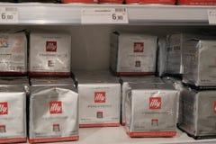 Paquets de café d'Illy Photographie stock