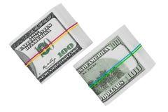 Paquets de cent dollars Photographie stock