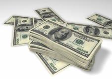 Paquets de dollars image libre de droits