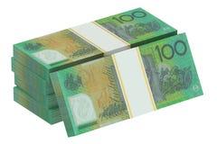 Paquets de dollars australiens photographie stock