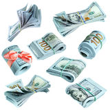 Paquets de dollars US Image stock