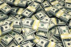 Paquets de dollars US d'argent liquide illustration stock