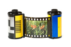 Paquets de film photographie stock libre de droits