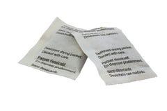 Paquets de papier de séchage déshydratants Images libres de droits