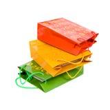 Paquets de papier multicolores. Photo libre de droits