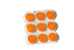 Paquets de vitamines Images libres de droits