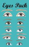 Paquets de yeux Photo libre de droits