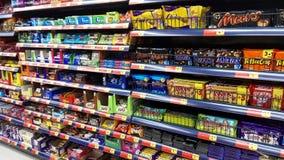 Paquets des bonbons à chocolat Images stock