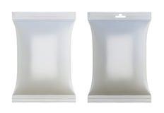 Paquets vides blancs pour la conception Photographie stock