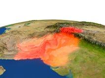 Paquistán en rojo de la órbita ilustración del vector