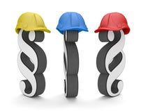3 parágrafos coloriram capacete de segurança ilustração do vetor