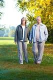 paråldringpensionärer royaltyfria bilder